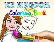 Carte de Colorat Regatul de Gheață
